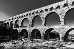 Pont du Gard, ancient roman's bridge in Provence, France Stock Photo