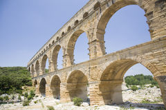 Pont du Gard, ancient watercourse Stock Photos