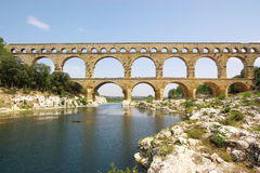 Pont DU Gard Ansicht Stockfoto