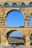 Pont du Gard, ao sul de França Imagens de Stock