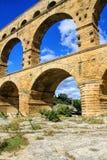 Pont du Gard, ao sul de França Fotos de Stock