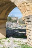 Pont DU Gard, Aquädukt lizenzfreie stockbilder