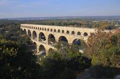 pont du gard aquaduct римское Стоковые Фотографии RF