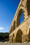 Pont du Gard aqueduct in France Stock Photo