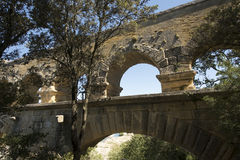 Pont du Gard architecture detail, France Stock Images