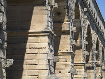 Pont du Gard arkitekturdetalj, Frankrike Royaltyfri Bild