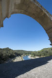 Pont du Gard arkitekturdetalj, Frankrike Arkivbild