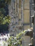 Pont du Gard arkitekturdetalj, Frankrike Arkivfoton