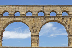 Pont du Gard - Detail Royalty Free Stock Images