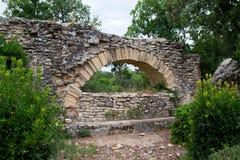 Pont du Gard - element av den romerska akvedukten royaltyfri bild