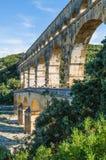 Pont du Gard, forntida romans bro i Provence, Frankrike Royaltyfria Foton