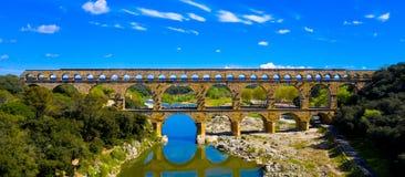 Pont du Gard imagem de stock