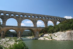 Pont du Gard, France. The Pont du Gard Acqueduct Royalty Free Stock Images