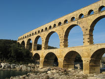 Pont du Gard, France. The famous roman bridge called Pont du Gard, in southern France Stock Images