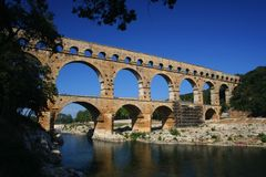 Pont du Gard, France Foto de Stock