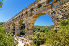 Pont du Gard, France. Ancient aqueduct Royalty Free Stock Photo