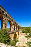 Pont du Gard, France. Highest ancient Roman aqueduct Royalty Free Stock Photos