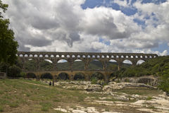 The Pont du Gard in France Royalty Free Stock Photos