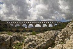 The Pont du Gard in France Stock Photo
