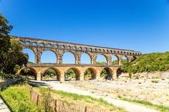 Pont du Gard, France. The Roman aqueduct Stock Images