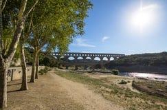 Pont du Gard, France. Roman aqueduct, Pont du Gard, France Royalty Free Stock Image