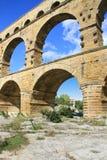 Pont du Gard France. Roman aqueduct at Pont du Gard France, UNESCO World Heritage Site Stock Photos