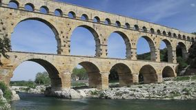 Pont du gard In France stock video footage
