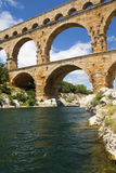 The Pont du Gard in France. Vertically. Royalty Free Stock Photos