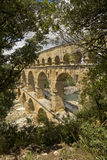 The Pont du Gard in France, view on the side Royalty Free Stock Image
