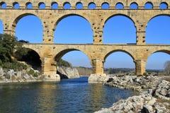 Pont du Gard Frankrijk royalty-vrije stock fotografie