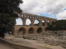 Pont du Gard in Frankrijk Royalty-vrije Stock Fotografie