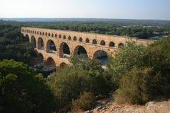 Pont-du-Gard, Frankrijk Stock Foto