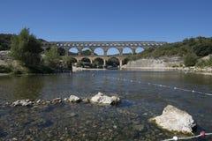 Pont du Gard, Frankrijk Stock Fotografie