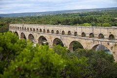 Pont du Gard, Frankrike Arkivfoto