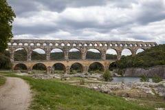 Pont du Gard, Frankrike Arkivbilder