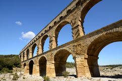 Pont du Gard, Frankrike Royaltyfria Bilder