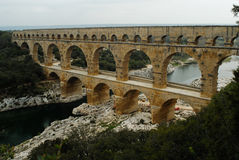 Pont du Gard, Gard region, France Royalty Free Stock Photos