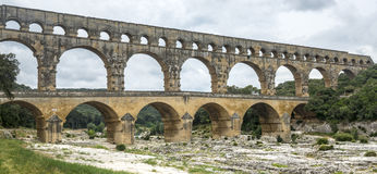 Pont du Gard. (Gard, Languedoc-Roussillon, France), the famous bridge, Unesco World Heritage Site Stock Photos
