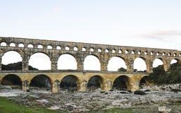 Pont du Gard, Nîmes, Frankrijk Royalty-vrije Stock Afbeeldingen