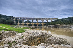 Pont du Gard near Nimes, France Stock Photo