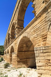 Pont du Gard, Nimes, Провансаль, Франция Стоковое Изображение RF