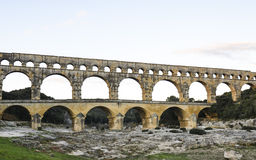 Pont du Gard , Nimes, France Royalty Free Stock Images