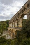 Pont du Gard, Nimes, Frankrike Royaltyfria Foton