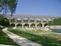 Pont du Gard no sul de França Imagens de Stock
