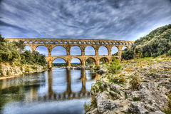 Pont Du Gard. Is an old Roman aqueduct near Nimes in Southern France Stock Photography