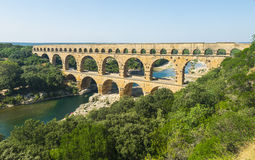 Pont du Gard. Is an old Roman aqueduct, southern France near Avignon Stock Images