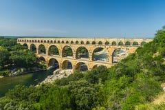 Pont du Gard. Is an old Roman aqueduct, southern France near Avignon Stock Photos