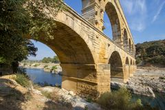 Pont du Gard fotografia de stock royalty free