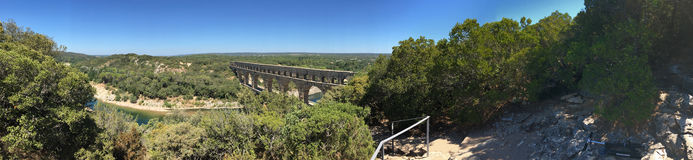 Pont du Gard panorama, France Stock Photo