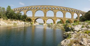 Pont du gard panorama XXL Royalty Free Stock Images